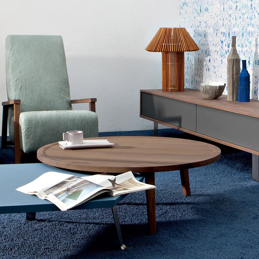 Coffee table in Canaletto walnut wood