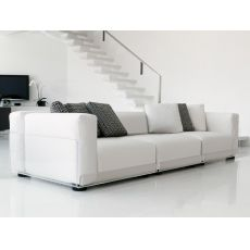 Asami 3P - 3 seaters sofa by Colico Design, with methacrylate structure, also for outdoor, different upholsteries and colors available