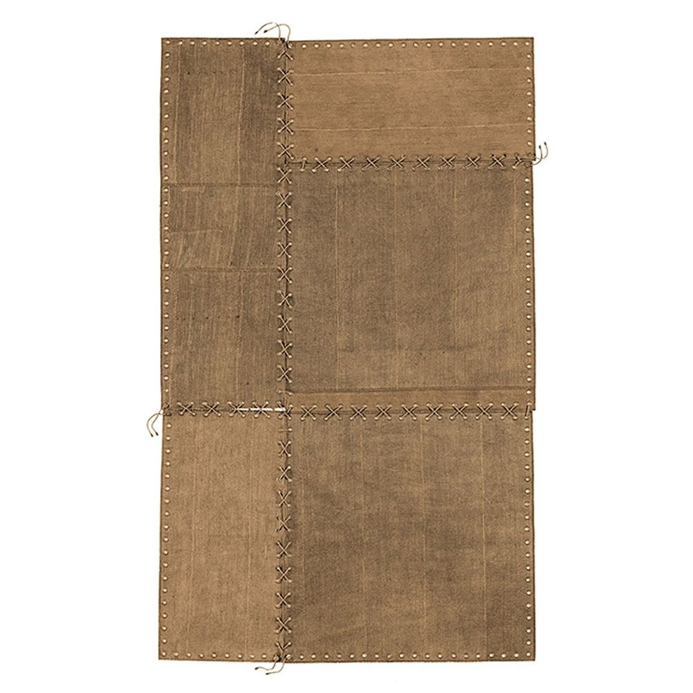 Design rug in brown colour
