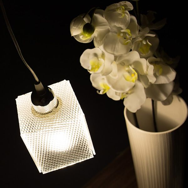 Suspension lamp with metacrylate lampshade, spectrall version