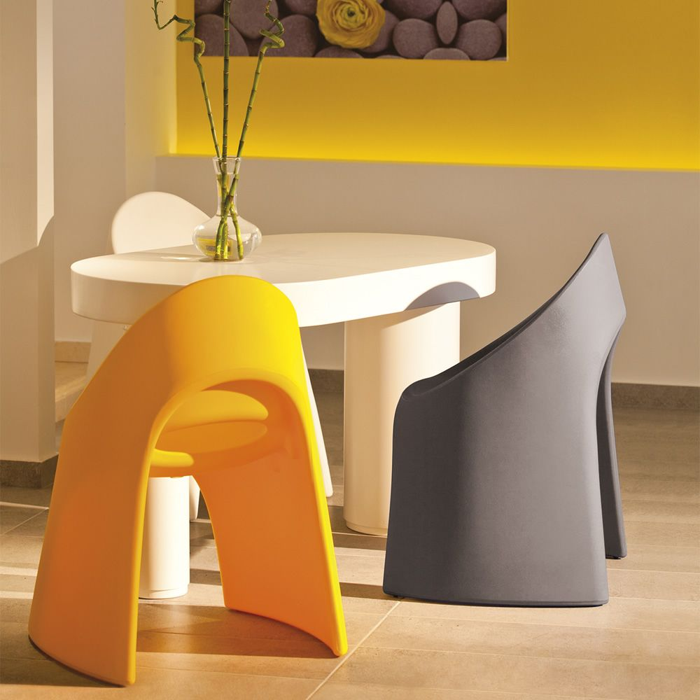 Polyethylene chairs, in different colours
