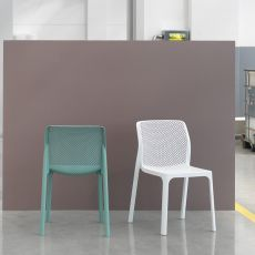 Bit - Polypropylene chair, stackable, also for garden