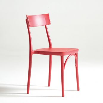 Milano 2015 PP - Polypropylene chair in red colour