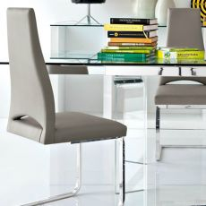 CS1380 Juliet - Calligaris metal chair with leather or imitation leather covering