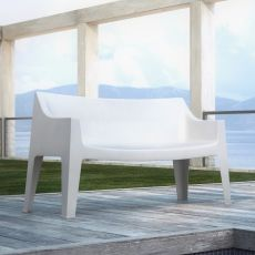 Coccolona 1253 - Stacking sofa in technopolymer, available in several colours, for bars, also for outdoor