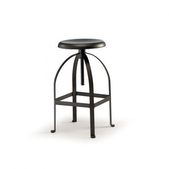 TT883 - Swivel stool, adjustable in height, made of metal in rust colour