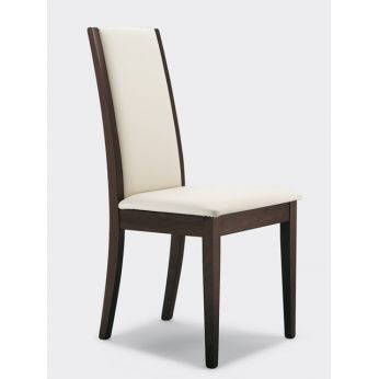203 - Wood chair, padded seat