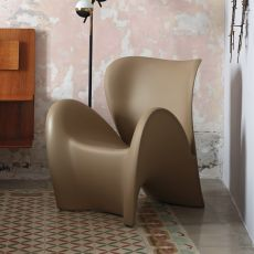 Lily-P - Design armchair made of technopolymer, also for outdoor