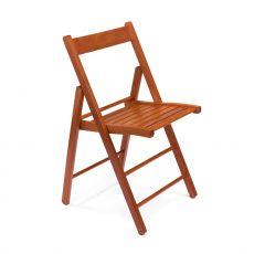 LS10 - Folding chair in wood, available in several colours