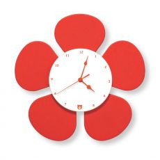 Petalo - Modern wall clock in MDF wood, available in different colours