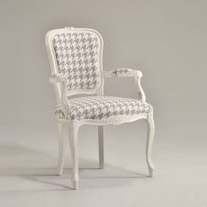 Brianzola P - Classic wooden armchair, padded