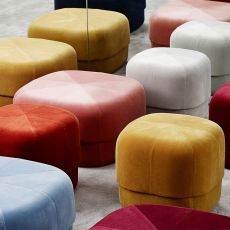 Circus - Normann Copenhagen pouf with velvet covering, different sizes available