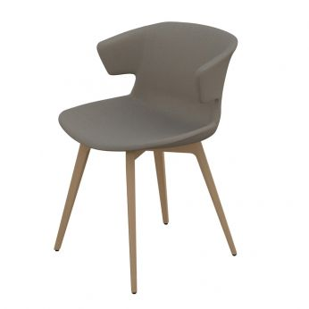 Cove Wood Soft - Chair with natural beech legs