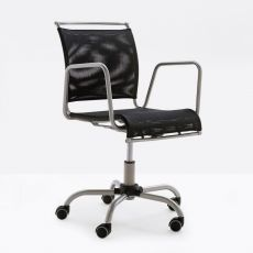 CB321 Air Race - Connubia - Calligaris office chair, swivel and adjustable in height, made of metal and net