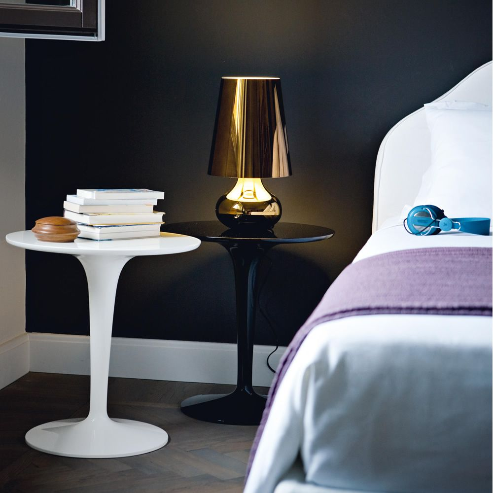 Design Kartell side tables, matching with Cindy lamp