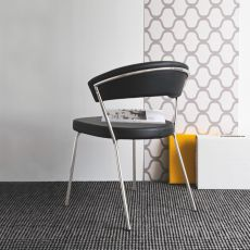 CB1084 New York - Connubia - Calligaris chair, imitation leather or leather covering