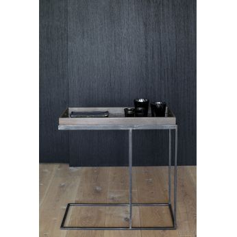 Rectangular tray side table - Ethnicraft coffee table, in metal and wood