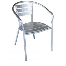 Z-Alu - Aluminium stacking chair, for outdoor