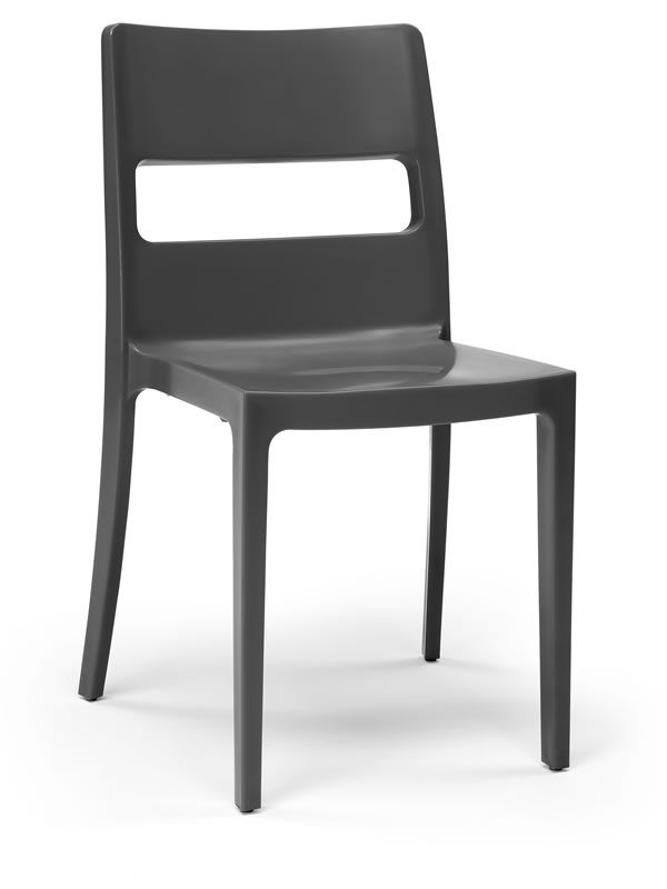 Modern chair in anthracite colour