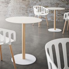 Tatami - Pedestal for bar table, in metal, height 73 cm or 110 cm, available different finishes