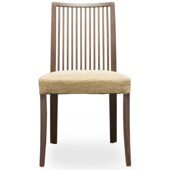 Forma Stick - Chair with structure in beech wood, wenge colour