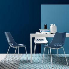 CB1059 Jam - Connubia - Calligaris chair made of metal and polycarbonate, different colours available