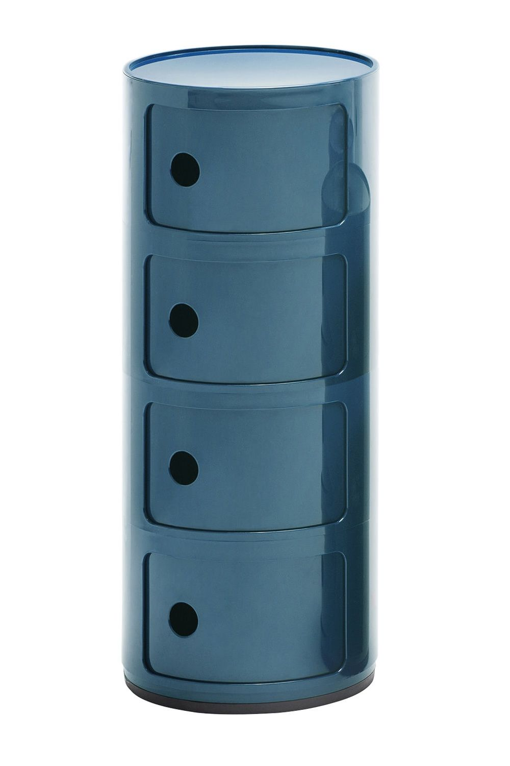 Design Kartell container, blue colour