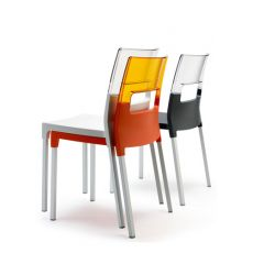 Diva 2200 - Aluminium and technopolymer chair, several colour, stackable and suitable for garden