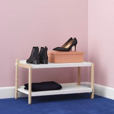 Sko - Normann Copenhagen shoe rack made of wood with metal shelves, different colours available