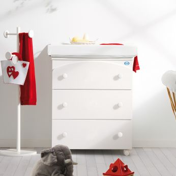 Tris - Changing table-baby bath in white colour