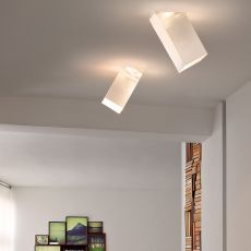 Beetle Cube 60° - Ceiling lamp with polycarbonate lampshade, inclination of 60°, different colours and sizes available