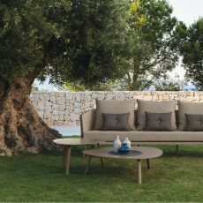 Milo T2 - Coffee table in aluminium, available in several sizes, also for garden