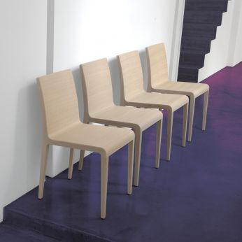 Young 420 - Chaise design, en chêne rouvre blanchi