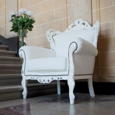 Barokko - Classic armchair Domingo Salotti, available in different coverings
