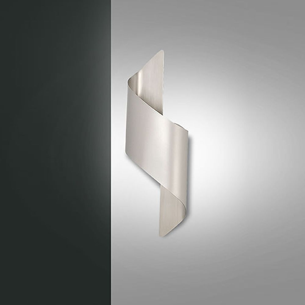 Wall lamp in metal, size S, light grey colour