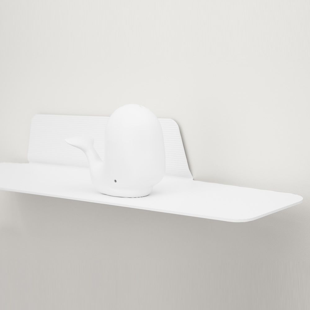 Shelf in white varnished aluminium (size: S)