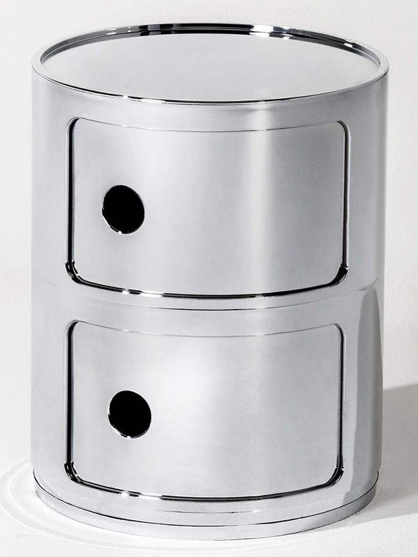 Design Kartell container, chromed version
