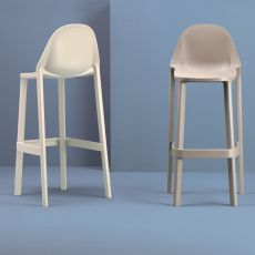 Più S 2337 - Technopolymer stool, seat at 65 or 75 cm, stackable, available in different colours, also for outdoor