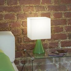 Cubo Stand - Slide table lamp in metal and polyethylene