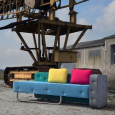 Chew - Designer sofa Adrenalina, in 2 places, available in different coverings