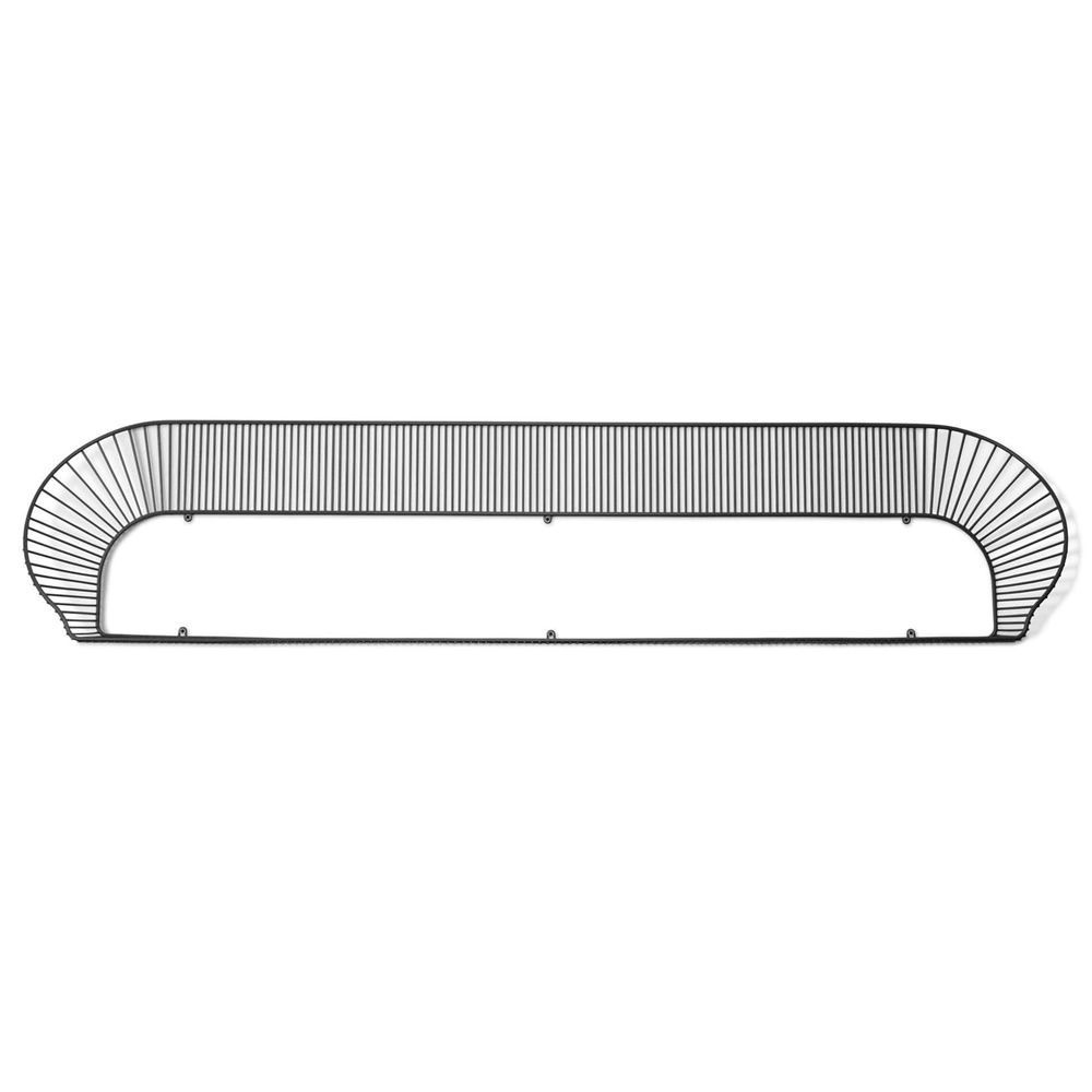Shelf made of black laquered metal (Size: Large)