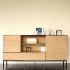 Bird - Ethnicraft wooden sideboard with doors and drawers, two finishes available