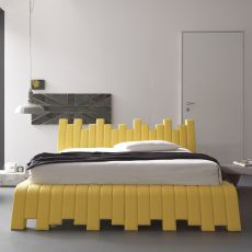 Cu.bed - Padded double bed, available in several sizes and coverings