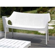 Olimpo Sofa 1252 - Sofa in aluminium and technopolymer, stackable, available in several colours, for garden
