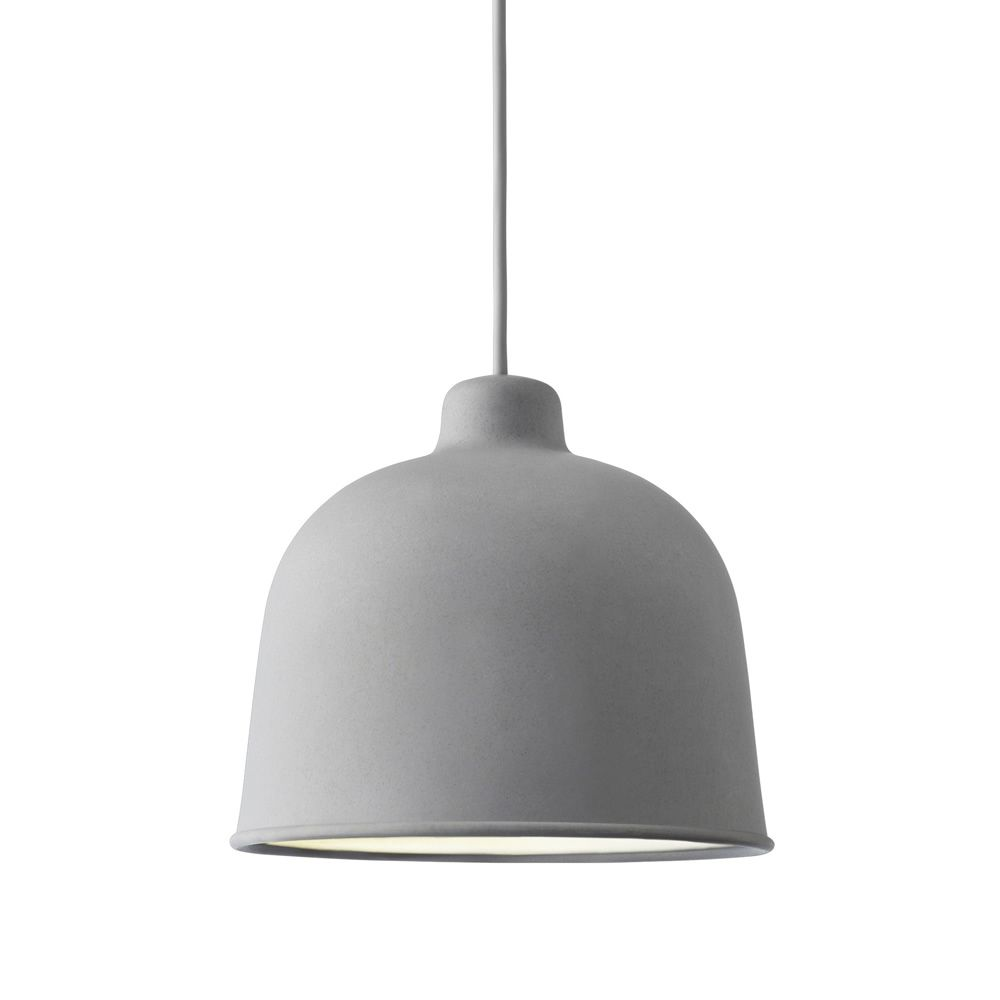 Pendant lamp made of bamboo, grey colour