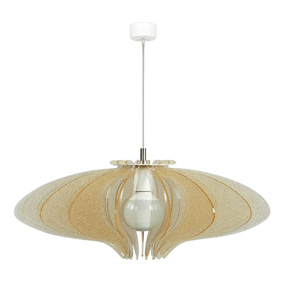 Pendant lamp made of methacrylate in texturgold colour