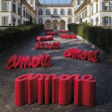 Amore - Slide polyethylene bench, also for garden, available also with lighting system