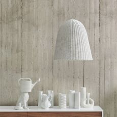 Bell - Gervasoni suspension lamp in rattan