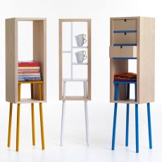 Obi - Valsecchi furniture-container made of veneered wood, different colours available