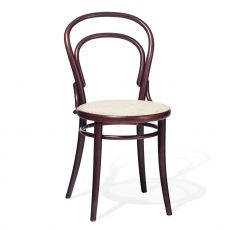 Chair 14 C - Ton chair in wood, with seat in cane
